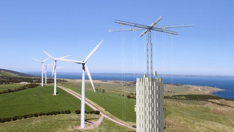Energy Vault CDU and Wind Turbines 2